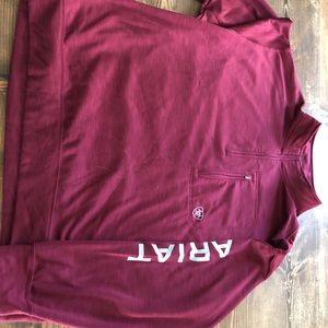 Men's Ariat 1/4 zip sweatshirt